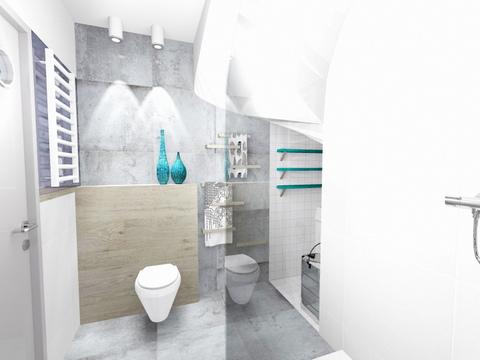 łazienka w Wieliczce, 2 piętro, 3