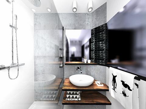 łazienka w Wieliczce, 2 piętro, wariant 2, 1
