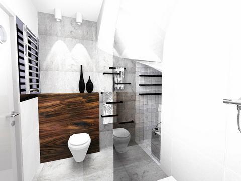 łazienka w Wieliczce, 2 piętro, wariant 2, 2