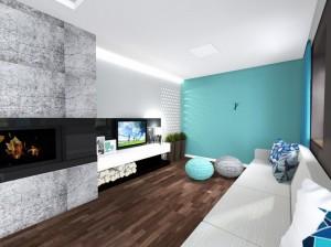 kanapa narożna U, salon turkus, 2 piętro 3