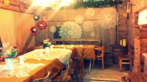 folk design, dekoracja sali weselnej, 2 piętro, 2