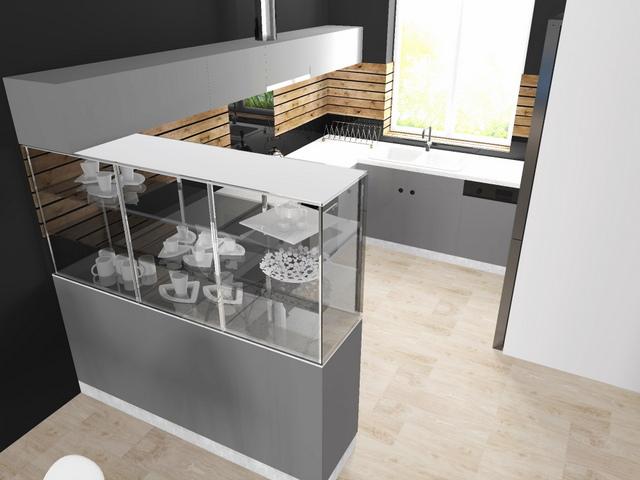 szara kuchnia z drewnem w Wieliczce, 2 piętr, 4