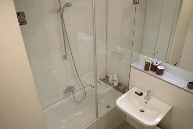 łazienka biało zielona, 2 piętro, 3