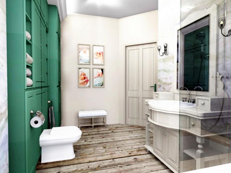 łazienka dla dzieci, przytulna łazienka, 2 piętro 1