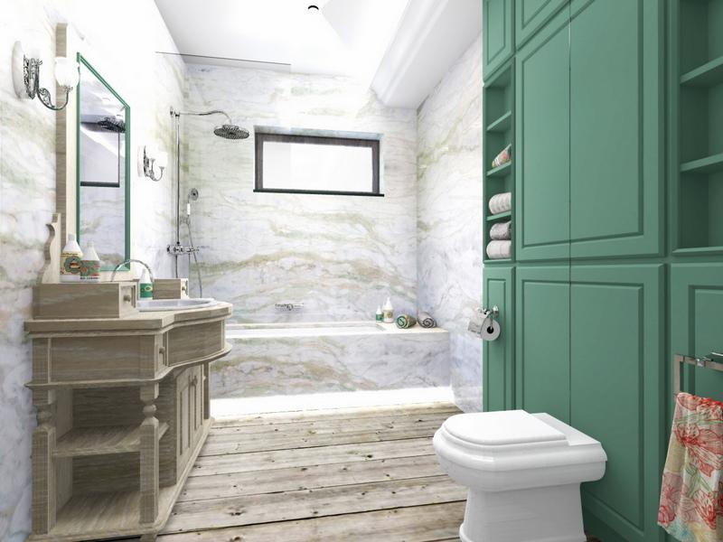 łazienka dla dzieci, przytulna łazienka, 2 piętro 2