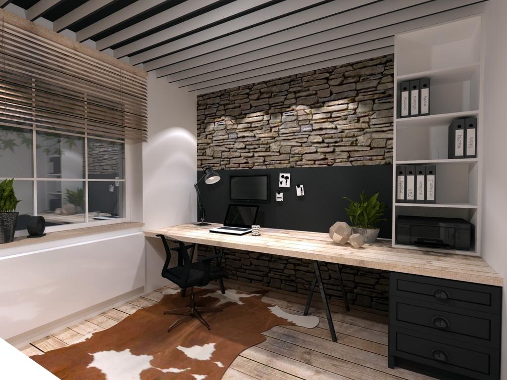 projekt biura, 2 piętro, 1