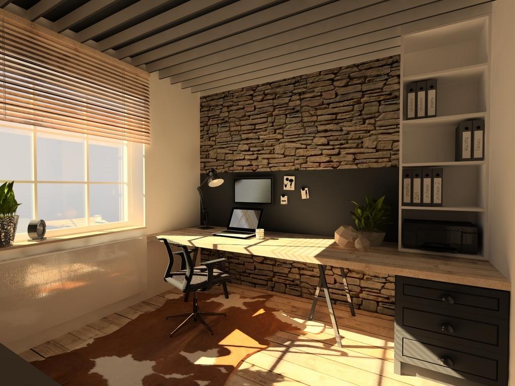projekt biura, 2 piętro, 2