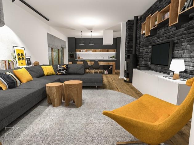 2 piętro, salon z kuchnią (4)